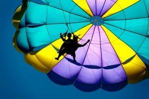 Parachute ascensionnel (ile aux cerfs)