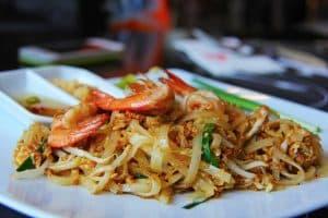 Assiette Pad Thai : recette thailandaise