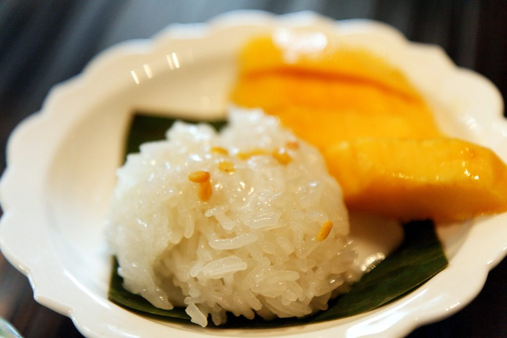 Aperçu de trois desserts thaïlandais