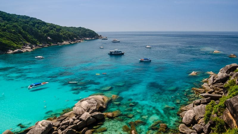 Excursion dans les superbes îles Similan en Thaïlande